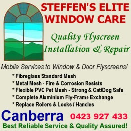 Canberra Fly Screen Repair Services | Steffen's Elite Window Care